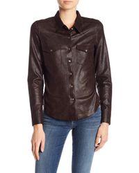 Level 99 - Heather Coated Western Shirt - Lyst