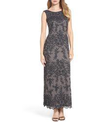 Pisarro Nights - Embellished Mesh Gown (regular & Petite) - Lyst
