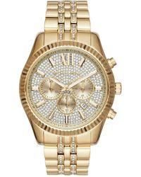 MICHAEL Michael Kors - Men's Lexington Crystal Chronograph Watch, 44mm - Lyst