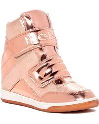 Bebe - Cobble Wedge Sneaker - Lyst