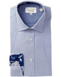 Ted Baker - Geo Print Trim Fit Dress Shirt - Lyst