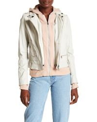 Doma Leather - Biker Jacket With Detachable Hood - Lyst