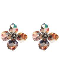 Shashi - Flower Tort Earrings - Lyst