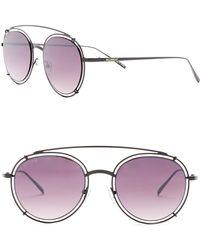 William Rast - Men's 50mm Round Aviator Sunglasses - Lyst