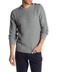 Barque - Fisherman's Cable Knit Sweater - Lyst