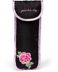 MIAMICA - Black Sew Floral Hair Iron Case - Lyst