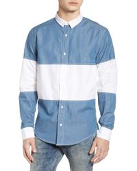 The Rail - Colorblock Woven Shirt - Lyst