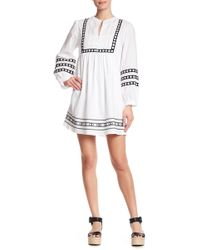 Sugarlips - Analise Embroidered Shift Dress - Lyst