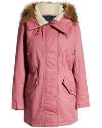 032db3329f0 Lyst - Ashley Stewart Faux Fur Lined Parka Winter Coat in Green