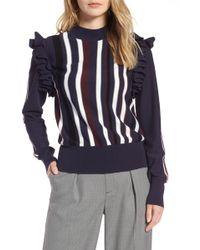 Halogen - (r) Detachable Sleeve Sweater (regular & Petite) - Lyst