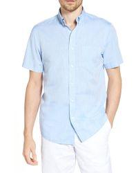 1901 - Short Sleeve Trim Fit Dress Shirt - Lyst