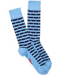 Cole Haan - Anchor Stripe Crew Socks - Lyst