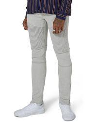 TOPSHOP - Topman Stretch Skinny Biker Jeans - Lyst