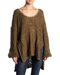 Free People - Flower Child Knit Tunic - Lyst