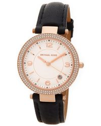MICHAEL Michael Kors - Women's Small Parker Leather Strap Watch - Lyst
