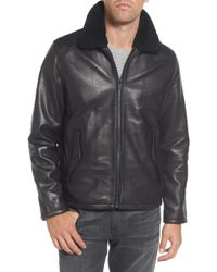 Vince Camuto - Genuine Shearling Leather Jacket - Lyst