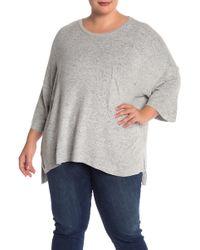 Philosophy Apparel - Drop Shoulder Cozy Knit Pullover (plus Size) - Lyst