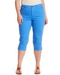 aa7b140c42c Lyst - NYDJ Ariel Stretch Capri Jean (plus Size) in Blue