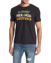 Lucky Brand - Support Your Local Bartender Tee - Lyst