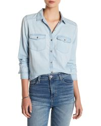 Caslon - Chambray Button Down Shirt - Lyst
