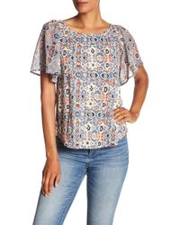 Lucky Brand - Mosaic Printed Blouse - Lyst