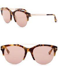 Tom Ford - Adrenne 55mm Browbar Cat Eye Sunglasses - Lyst