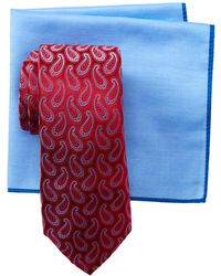 Ted Baker - Falling Pines Silk Tie & Pocket Square Set - Lyst