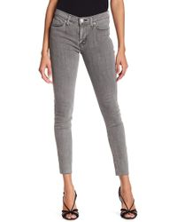 Hudson Jeans - Nico Mid Rise Raw Hem Skinny Jeans - Lyst