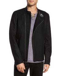 John Varvatos - Asymmetrical Front Zip Jacket - Lyst