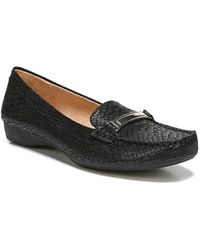 Naturalizer - Gadget Snake Embossed Leather Bit Loafer - Wide Width Available - Lyst