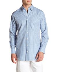 Peter Millar - Pacific Multi Check Print Regular Fit Shirt - Lyst