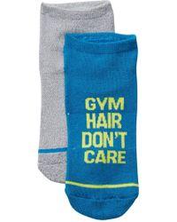 Steve Madden - Gym Hair Don't Care Socks - Pack Of 2 - Lyst