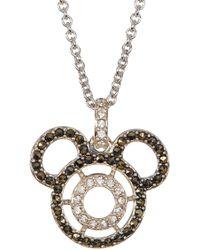 Judith Jack - Sterling Silver Swarovski Marcasite & Crystal Mickey Pendant Necklace - Lyst