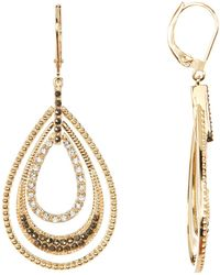 Judith Jack - Gold Plated Sterling Silver Orbital Triple Teardrop Hoop Earrings - Lyst