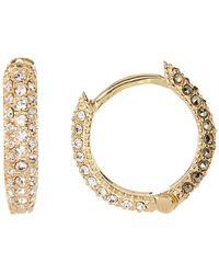 Judith Jack - Gold Plated Sterling Silver Reversible Hoop Earrings - Lyst