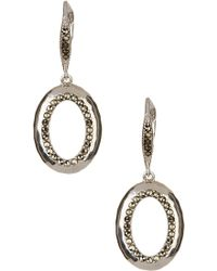 Judith Jack - Sterling Silver Swarovski Marcasite Embellished Drop Earrings - Lyst