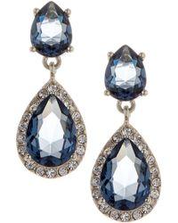 Judith Jack - Sterling Silver Soiree Blue Cz Drop Earrings - Lyst