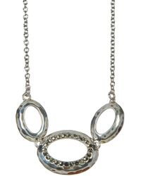 Judith Jack - Sterling Silver Marcasite Detail Circle Pendant Necklace - Lyst