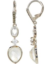 Judith Jack - Marcasite, Mother Of Pearl, & Cz Detail Drop Earrings - Lyst
