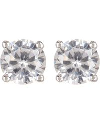 Judith Jack - Sterling Silver Round Faceted Crystal Stud Earrings - Lyst