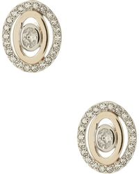 Judith Jack - 10k Gold Plated Sterling Silver Swarovski Crystal & Marcasite Earrings - Lyst