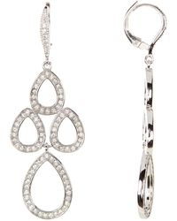 Judith Jack - Crystal Chandelier Earrings - Lyst