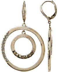 Judith Jack - Sterling Silver Gemstone Detail Double Open Circle Drop Earrings - Lyst