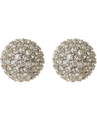 Judith Jack - Sterling Silver Pave Crystal Fireball Stud Earrings - Lyst