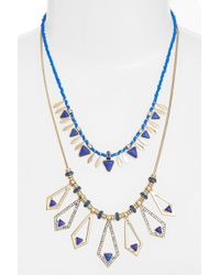 Kent & King - Multistrand Crystal Necklace - Lyst