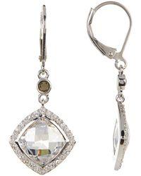 Judith Jack - Sterling Silver Marcasite & Crystal Detail Drop Earrings - Lyst
