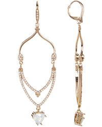 Jenny Packham - Crystal Pave Tiered Drop Earrings - Lyst