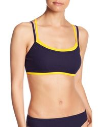 Nautica - Ribbed Double Layer Cross Back Bra - Lyst