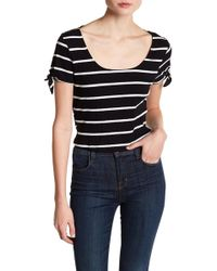 Lush - Short Sleeve Knit Cropped Tee - Lyst
