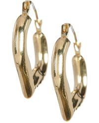 KARAT RUSH | 10k Yellow Gold Heart Shape 18.8mm Hoop Earrings | Lyst